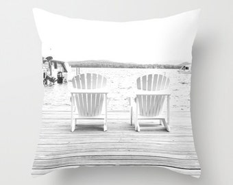 Photo Pillow Cover Decorative White Pillow Water Pillow Camp Pillow Beachy Pillow Cover