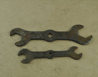 "Vintage Indestro 9/16"" 1/2"" 7/8"" 1"" Open End Wrench Set"