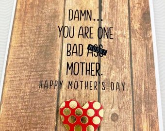 Mother's Day Bad A** Mother card