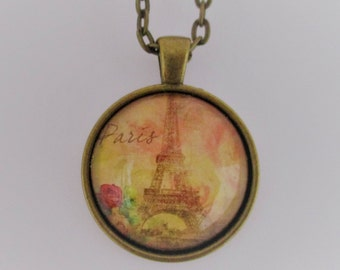 Eiffel Tower Glass Photo Pendant, Eiffel Tower Pendant, Glass Eiffel Tower Necklace, Eiffel Tower Jewelry, Glass Photo Jewelry, Paris Lover