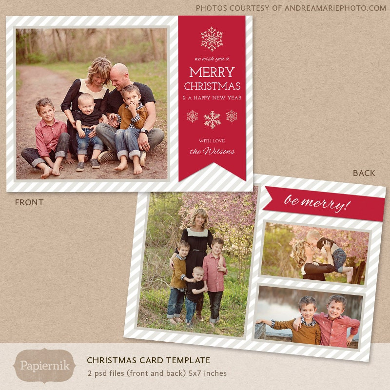 Digital photoshop christmas card template for photographers zoom pronofoot35fo Image collections
