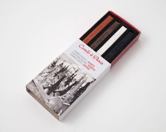 Conté crayons, matchbox set of 4