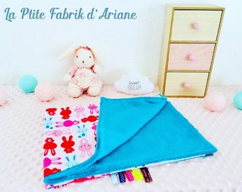 "baby blanket / plaid baby/birth gift / collection ""Bunny"""