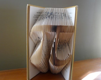 Pi - Folded Book Art - Math - Pi Day - March 14th - Forever - Never Ending - Anniversary - Gift for Math Teacher - Mathematics