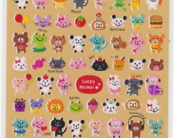 Animal Stickers - Japanese Stickers - Mind Wave Stickers - Reference A6816