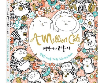 One million cats - coloring book for anti stress