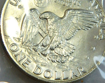 1973 EISENHOWER 40%  UNCIRCULATED  Silver Dollar Collectible Coin