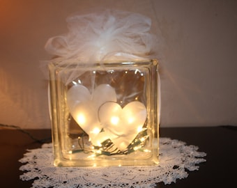 Wedding Night Light Double Hearts Hand Etched Lovers Home Decoration Low Special Lighting