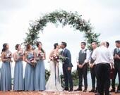Coralie Beatrix Pelican Hill Dusty Blue Long Octopus Infinity Convertible Wrap Gown Dress~ Bridesmaids, weddings. etc.