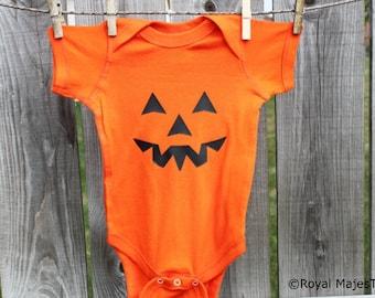 Halloween Pumpkin Baby Bodysuit, pumpkin costume, baby costume, Halloween
