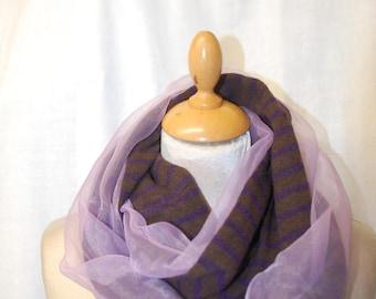 Scarf wool fabric and organza