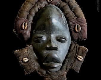 Ethnographic Art Image Series / Portrait of Dan Deangle Face Mask / Tribal Art–African Art / High Res Print / Orig Color Photography