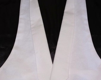 White Cotton Pique Tuxedo Vest at its finest with Fred Astaire 1930s look.