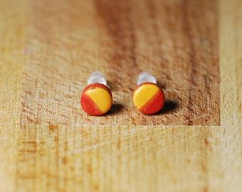 Autumn Stud Earrings - Hypoallergenic Earrings - Tiny Stud Earrings - Polymer Clay Earrings - Hypoallergenic Studs  - Plastic Post Earrings