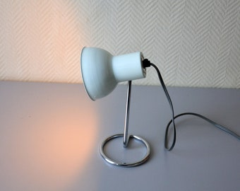 Vintage desk Lamp / mid century modern mint green lamp / 60s 70s