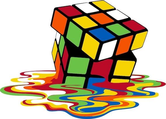 Rubik S Cube Melting 11 8 X 10 T Shirt Iron On
