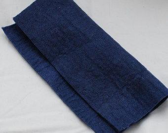 "100% Wool Felt Fabric - Approx 3mm - 5mm Thick - 30cm / 12"" Square Sheet - Smoke Blue"