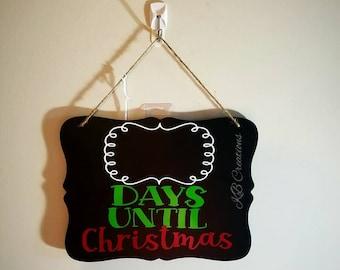 Christmas Countdown Sign