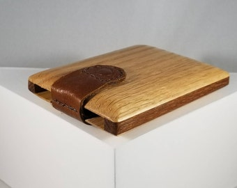 Wooden Wallet / Business Card Holder (Oak and Leopardwood)