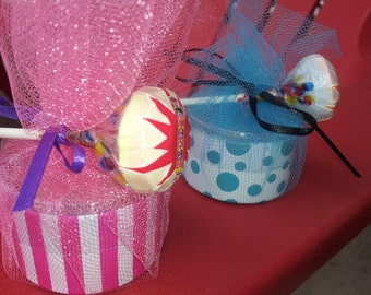 10 Fun Dip Candy Sand and Smarties Lollipop Party Favor