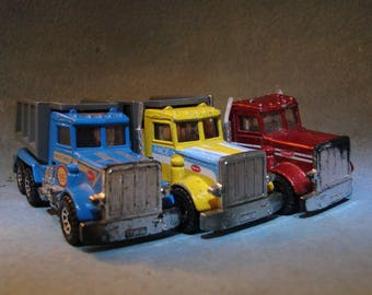Vintage Dump Trucks Matchbox DieCast Cars