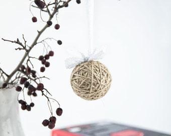 Shabby chic ornaments - Rustic ornaments set - Christmas decoration rustic - Shabby chic decor
