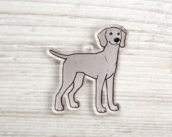 Weimaraner - Acrylic Charm - Pendant - Phone Strap - Gift for Dog Lover - Ornament - Weim - Gift - Kawaii - Grey Ghost - Hunting Dog - Decor
