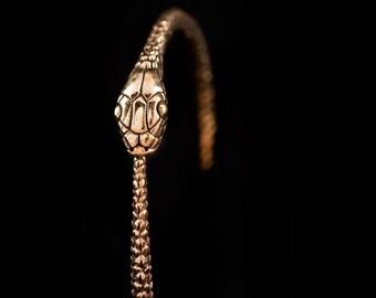 Snake Bangle - Ouroborus Bangle - Snake Jewelry - gouden Snake Bangle