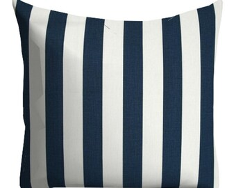 striped pillows, stripe pillow, pillow cover, nautical pillows, navy blue pillow, 12x24 in pillow, 12x24 in accent pillow, blue white pillow