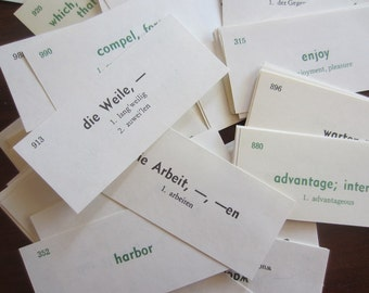Vis Ed German Flash Cards Set of Twenty Five (25)