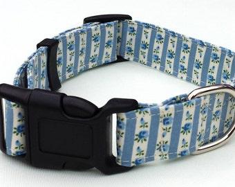 Dog Collar - Blue Floral Dog Collar