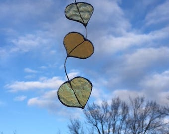 Stained glass aspen leaves
