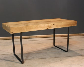 Coffee Table with Mild Steel Legs, Handmade Modern Rustic(The Brittenden}