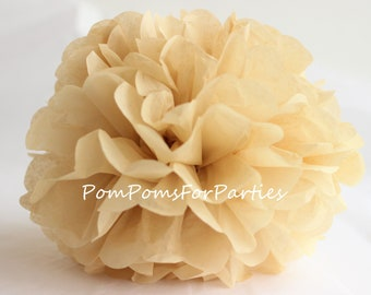 1 High Quality PARCHMENT Tissue Pom Pom - Choose any of 60 colours - Hanging  Paper flower - Tissue paper balls - Tissue paper pom poms