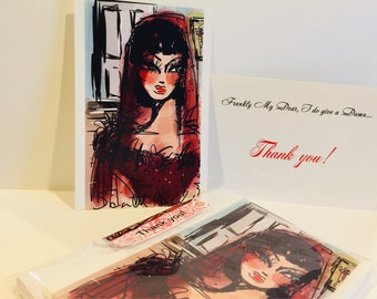 Thank You Cards inspired by Scarlet Ohara from Gone with the Wind.