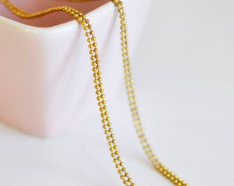 double ball chain 1.5 mm raw brass - 1 meter