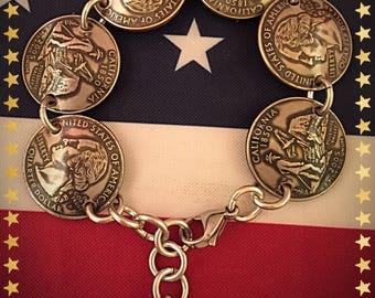 California State Quarter Bracelet
