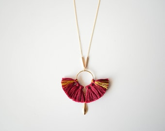 Burgundy Phoenix necklace