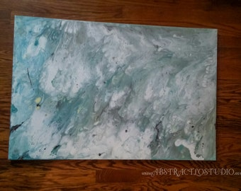 "24""×36"" Smog- abstract painting, original canvas art, acrylics on canvas, art decor"