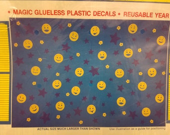 Stik-ees 1991 JJJ- Smily Faces decal, Great for Kids, smiley face emojis