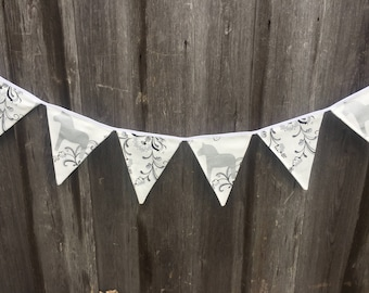 Banner Fabric Bunting Fabric Banner Birthday, Party Bunting, Nursery Art Hanging, Wall Art Party, Birthday Decoration, Party Decor