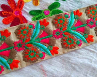 Antique Decorative Eyelash Embroidered Wide Stretch decorative Lace Trim  Fabric