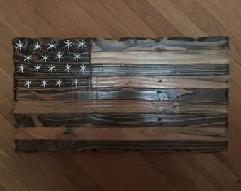 Rustic Stained Flag