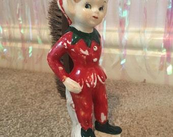 Vintage Elf Pixie Kitschmas Shoe Brush