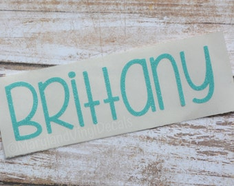 Glitter Name Decal, Personalized Name Decal, Yeti Decal, Car Decal, Yeti Name Decal, Personalized Name Decal, Phone Decal, Name Sticker