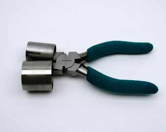 """Small Bracelet Making Pliers with 1"""" and 1-3/8"""" Barrels"""