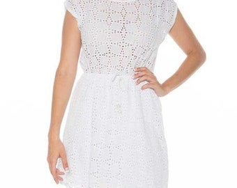 White dress, white draught dress, summer dress, woman dress, white dress, summer dress, short dress