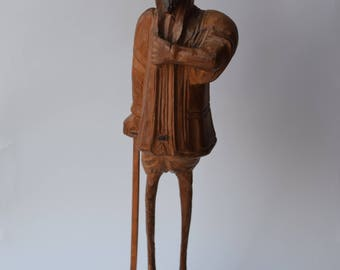 Hand Carved Wood Statue Sculpture Shakespearean