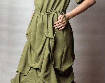Cotton rayon midi boho dress
