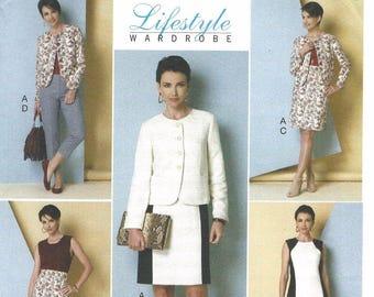 Butterick 6332 Lifestyle Wardrobe Misses Jacket, Dress, Skirt and Pants Size 8-10-12-14-16   New Uncut